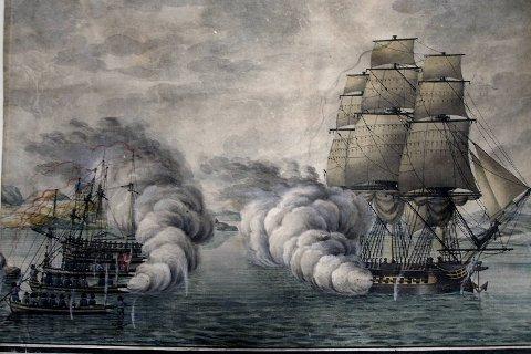 Dahlerup ankom Bergen for sent til å være med på den mest ærerike hendelsen i kystforsvaret under Napoleonskrigene. Den 16. mai 1808 lyktes fire dansk-norske kanonjoller og en skonnert å jage den engelske fregatten «Tartar» på flukt i Slaget ved Alvøen. Løytnant Johan Christian August  Bielke  ledet den  norske flåten og ble en av Dahlerups nærmeste venner i Bergen. Løytnant Bjelkes gate, passende nok en sidegate til Tartargaten, er oppkalt etter ham.