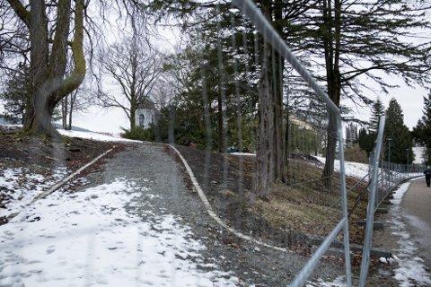 I løpet av årets første seks måneder skal det monteres trenings- og lekeapparater her på Flagghaugen.