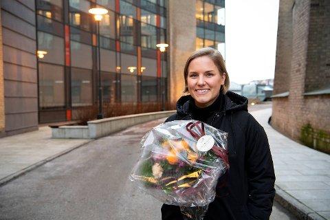 Anja Myrtveit ble medlem nummer 1000 i SV i Bergen. De er ett av flere partier som fosser frem, etter at Krf valgte å gå i regjering.