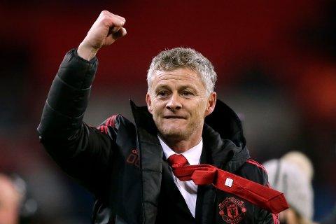 Eventyret i Manchester United fortsetter for Ole Gunnar Solskjær tirsdag kveld. (AP Photo/Tim Ireland)