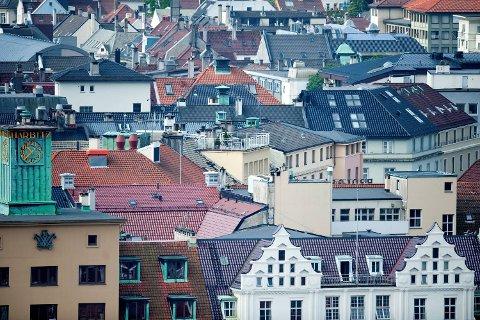Boligprisene i Bergen har de siste årene steget jevnt og trutt, men 2018 endte med en negativ prisutvikling.