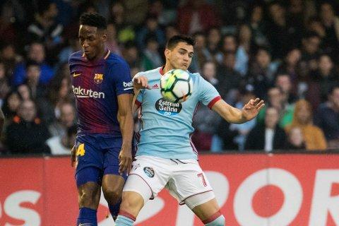 Celta og Maxi Gomez (t.h.) skal ha gode mulighetr til å ta tre poeng mot et Athletic-lag som er i trøbbel denne sesongen. (AP Photo/Lalo R. Villar)