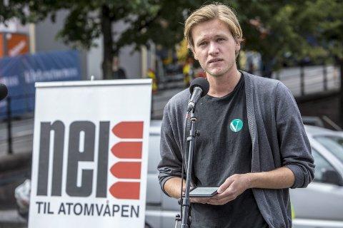 FRA ASKØY:Sondre Hansmark leder Unge Venstre. Nå kritiserer han regjeringen for ikke å gjøre nok på klimafronten. – Høyre kan ikke ta Venstres støtte for gitt ved valget i 2021, sier han. FOTO: SCANPIX.