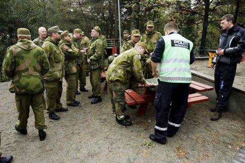 Store ressurser var i sving i letingen etter Johansen i 2008. Dette bildet er fra en av leteaksjonene. Arkivfoto: BA