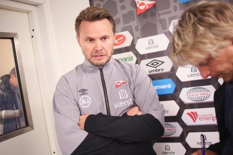 Heller ikke Bjørn Johansen har lyktes som Fredrikstad-trener og enda en sesong ser ut til å ende med skuffelse for populære Fredrikstad. Foto: Christoffer Andersen (NTB scanpix)