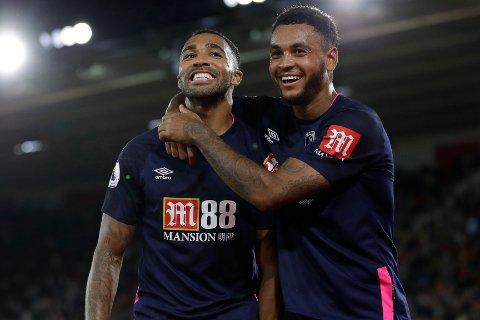 Callum Wilson feirer Bournemouth sin tredje scoring mot Southampton sammen med den norske landslagsspissen Joshua King. Norwich skal passe seg for Wilson Han har scoret fem mål på seks hjemmekamper i Premier League mot nyopprykkede lag.