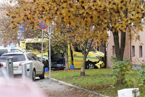Ambulansen ble stoppet og en mann pågrepet.