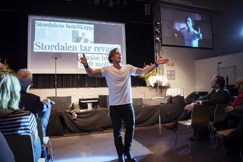 –  Jeg garanterer at jeg bygger i Bergen om jeg får en tomt. Jeg trenger et flaggskip, et uavhengig, ubrandet hotell som The Thief, men i stor skala, sier hotellinvestor Petter Stordalen. FOTO: RUNE JOHANSEN