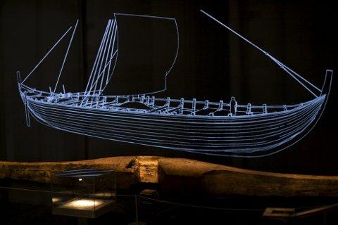 Sjøfart: En av delene på Bryggeskipet fra utstillingen «Under Jorden». Et norsk handelsskip fra 1188. Foto: Emil Breistein