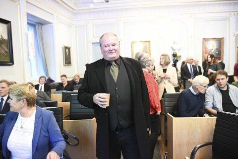 Trym Aafløy i bystyresalen onsdag ettermiddag.