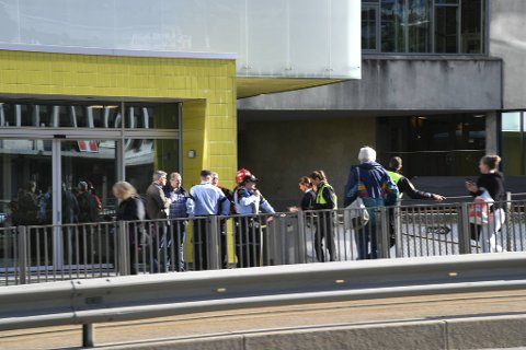 Årstad videregående skole ble evakuert fredag ettermiddag.