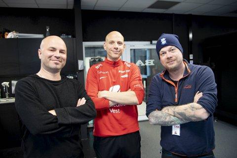 Ruben Kristiansen er gjest hos Fotballpreik, med Jan Gunnar Kolstad (t.v.) og Kai Flatekvål.