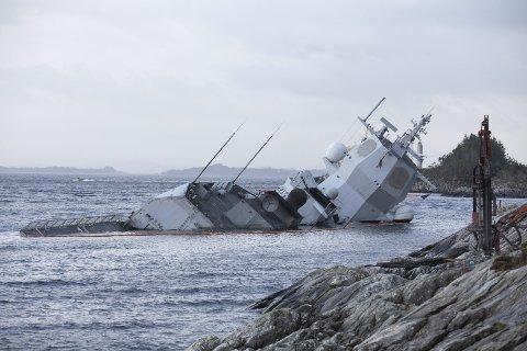 Etterforskningen av fregatthavariet pågår fortsatt.