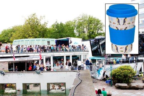 Akvariet får årlig besøk av over 200.000 mennesker. Nå reagerer Mattilsynet etter at de fant kopper av lignende type (innfelt) for salg i kiosken.