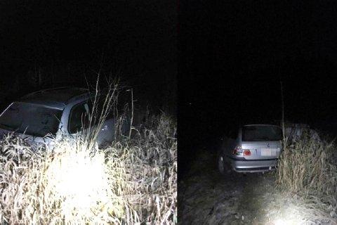 Mannen (25) kjørte seg fast på vei til fest. På vei hjem forsøkte han å få bilen opp av grøften, uten å lykkes. Det endte med politiutrykning.