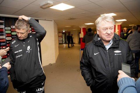 Brann-trener Lars Arne Nilsen og Branns styreleder Eivind Lunde er begge skuffet over 2019-sesongen.