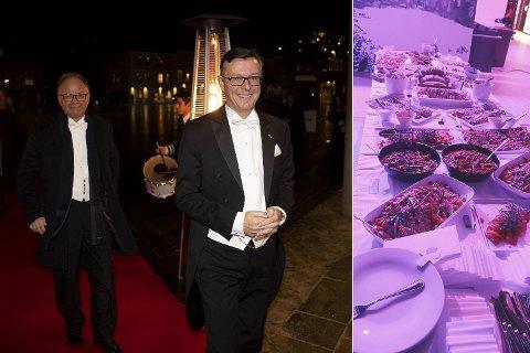 Dag Rune Olsen (t.h) var selv på julebordet fredag der gjestene kun fikk kjøttfrie retter. (Arkivfoto)