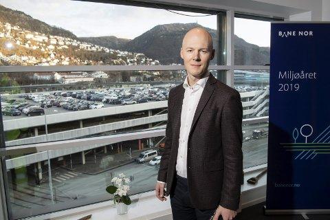 Godsdirektør Oskar Stenstrøm og Bane Nor får andre forutsetninger for godshåndtering i Bergen fremover. Da er det helt nødvendig å ta grep.Foto: RUNE JOHANSEN