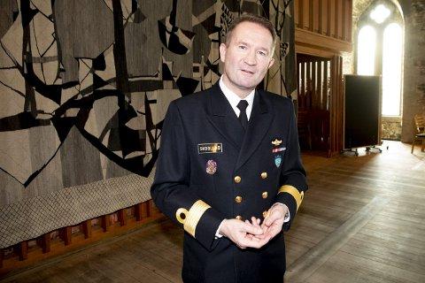 Mandag overtok Norge kommandoen for den stående marinestyrke SNMG1. Flaggkommandør Yngve Skoglund vil ha kommandoen på flaggskipet fregatten KNM «Otto Sverdrup». FOTO: ARNE RISTESUND
