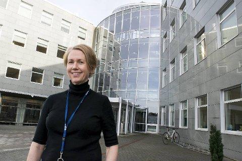 Kristin Aadland i Tjenestesenteret har hovedansvaret når BKK skal bytte hovedkontor. Arbeidet er i gang, forteller hun.
