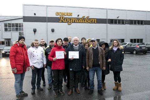 I januar møtte ansatte opp på bakeriet for å fortelle toppledelsen i Coop hva de mente om situasjonen i Goman Rognaldsen.