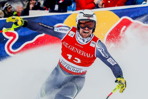 Aleksander Aamodt Kilde endte på 6. plass i Super-G rennet i Kitzbühel forrige helg, men var kun 19 hundredeler fra seieren. Onsdag er han et klart medaljehåp for Norge i Åre. Foto: Cornelius Poppe, NTB Scanpix
