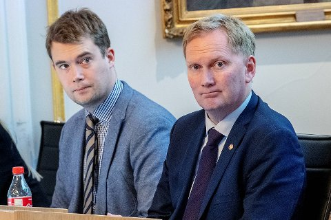 Byrådet vil bosette 205 flyktninger til neste år. Her er sosial, bolig og inkluderingsbyråd Erlend Horn (V) og byrådsleder  Harald Schjelderup (Ap).