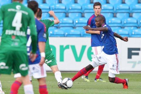 Pape M. Diamanka uhar suksess i Segunda Division denne sesongen. Han er toppscorer i Numancia.  Foto: Håkon Mosvold Larsen / NTB scanpix