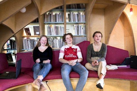 Guri Bogen (14), Torje Leiva Perstølen (15) og Julie Bakke Liland (15) brenner for miljøet.