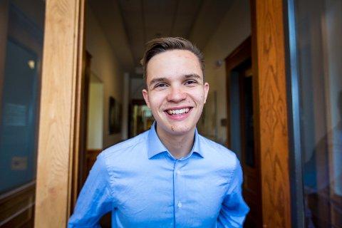Joel Ystebø (17), 3.-kandidat Bergen KrF og leder i Vestland KrFU