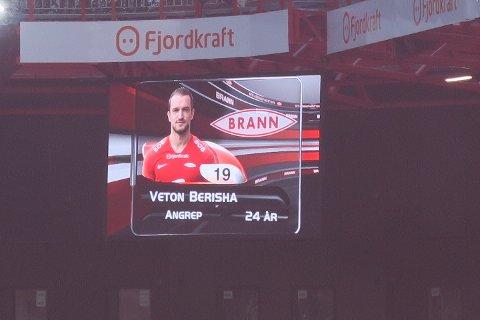 Veton Berisha var en av de som ga håp for poengfangsten fremover.
