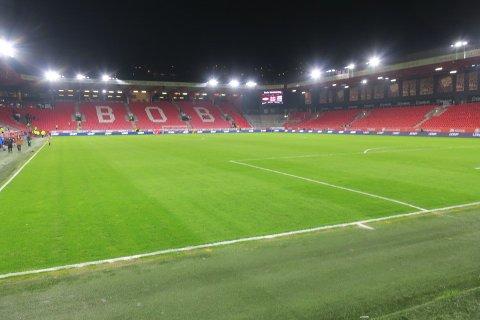 Stadion er tomt, men er et vakkert syn.