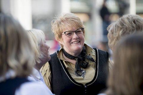 Trine Skei Grande under Festspillåpningen i fjor. I fjor presenterte kulturministeren også den nye kulturplanen.
