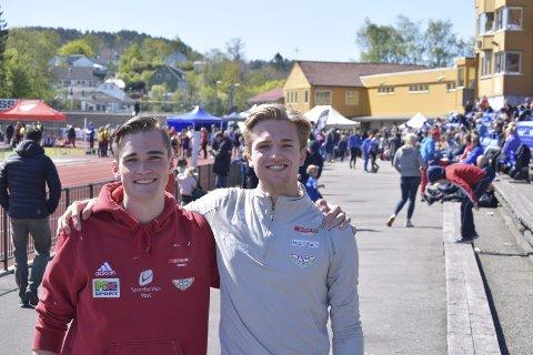 Vetle R. Ellingsen og Erlend B, Raa er avgangselever på Metis videregående, men har bevisst ikke deltatt på årets russefeiring.