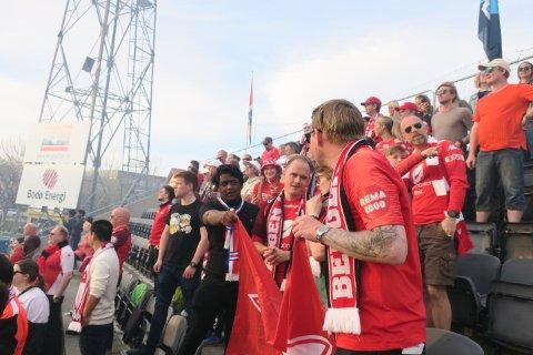 Vi var kanskje 50 Brann-supportere i Bodø.