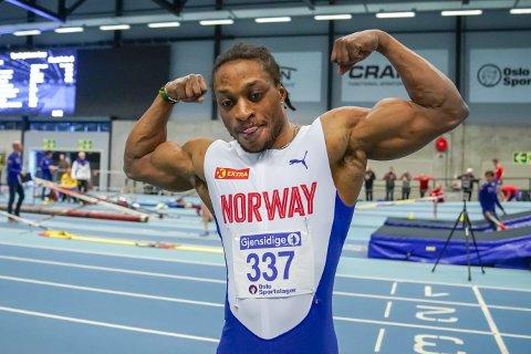 Da Salum Kashafali fredag løp sitt første parastevne, dundret han rett inn til verdensrekord for svaksynte! Foto: Heiko Junge, NTB scanpix
