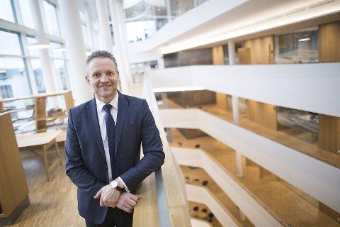 Konsernsjef i Sparebanken Vest, Jan Erik Kjerpeseth, gleder seg over at stemningen er god blant næringslivskundene.
