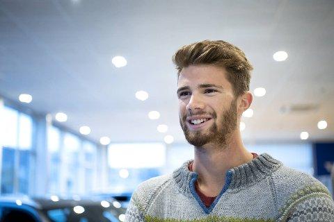 Sandvolleyballspiller Anders Mol. I slutten av juni er han og makker Christian Sørum blant favorittene i Sandvolleyball VM i Hamburg.