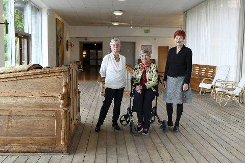 Liv Reed-Erichsen Larsen (76), Åshild Sundgot (87) og Anne Marie Bottolfsen (75) vet det meste om hvordan det var å ha ansvaret for hjem og barn mens ektemannen var borte i lange perioder.