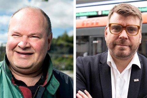 Trym Aafløy og sjefredaktør Sigvald Sveinbjørnsson i BA.
