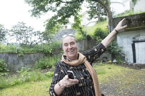 I OPERAGROTTEN: Anne Randine Øverby skal sette opp «Carmina Burana» ved tilfuktsrommet på Nygård, som hun har omdøpt til «Operagrotten». FOTO: MAGNE TURØY