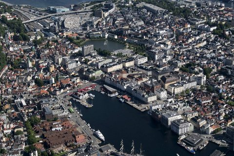 Nedgang i boligprisene i juni i Bergen
