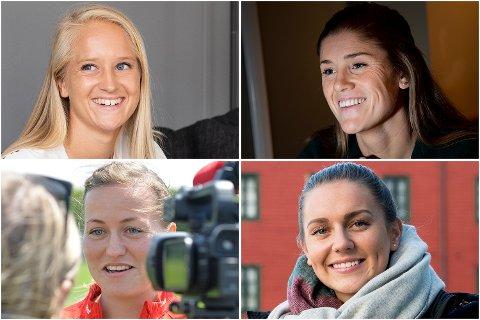 Amalie Eikeland, kaptein Maren Mjelde, Kristine Minde og Vilde Bøe Risa er i landslagstroppen som kommer til Bergen.