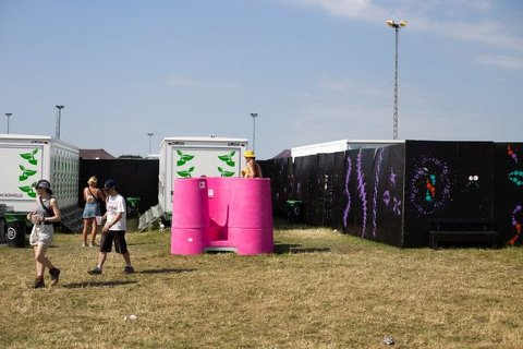 Dette bildet er fra en av de danske festivalene som har testet ut «Lapee». Til helgen testes de ut i Drammen.