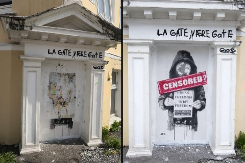 Protestverket til AFK er fjernet fra Høyden.