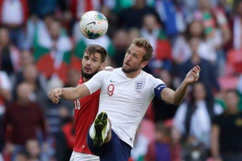 Harry Kane scoret tre av målene da England slo Bulgaria 4-0 på Wembley lørdag. Foto: David Klein (Reuters)