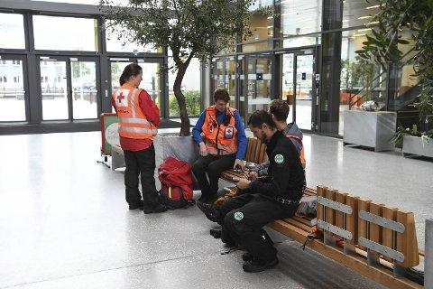 Mannskaper fra blant annet Røde Kors og Norsk Folkehjelp deltok i letingen etter den 75 år gamle kvinnen.