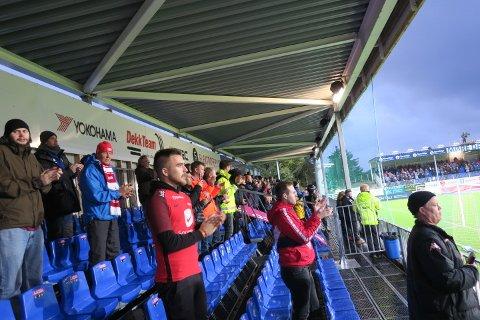 Vi var latterlig få Brann-supportere i Kristiansund.