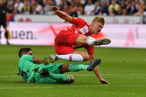 Erling Braut Haaland har vært en kjempesuksess i FC Sazburg. På de første syv seriekampene har Haaland scoret hele 11 ganger. Senest lørdag ble det hat trick mot Hartberg: