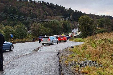 To biler kolliderte på Valleheiane.